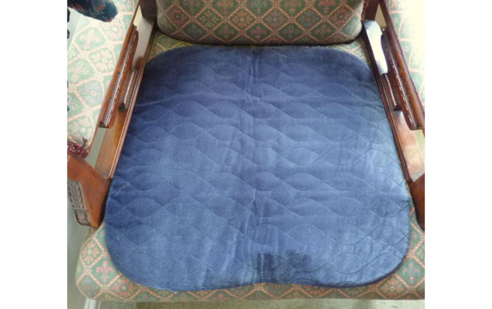 Blue Washable Seat Pad which is a great seat protector from accidents.