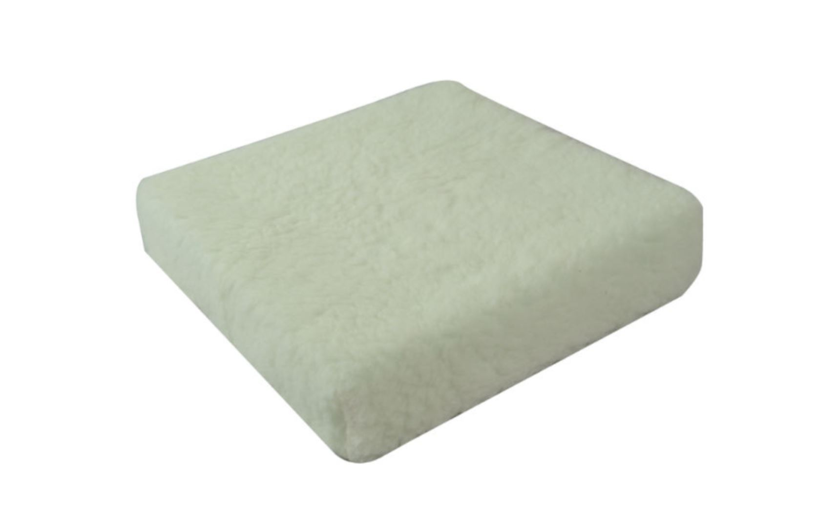 Luxury Fleece Wheelchair Cushion which is a warm fleece material.
